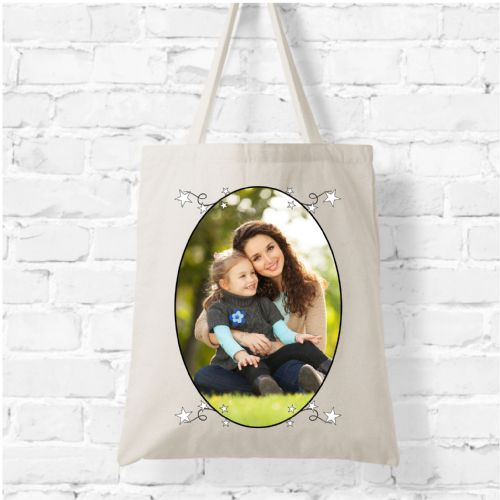 Personalised Natural Soft Tote Bag N5 - Your Photo / Image